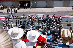 Alonso on the grid: