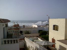 View from the terrace:Do they surf there...?